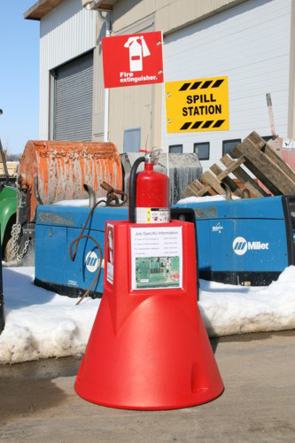 rent osha compliant fire extinguisher stands